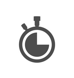 Stopwatch clock icon isolated on white backgroun vector