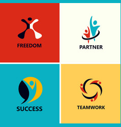 success people logos vector image vector image