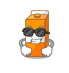 super cool package juice character cartoon vector image