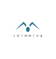 swimming logo vector image