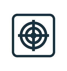 target icon Rounded squares button vector image