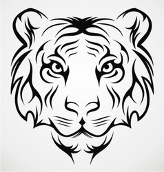 Tiger Face Tribal vector