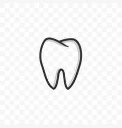Tooth medical dentist icon on transparent vector