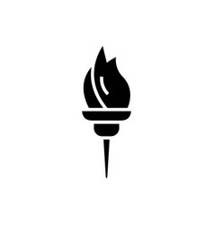 torch icon black sign on vector image