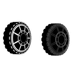 Two car wheels vector