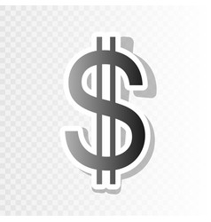 united states dollar sign new year vector image
