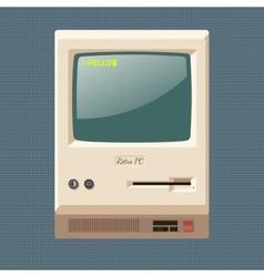 Vintage personal computer vector