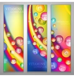Vitamins Rainbow Banners vector