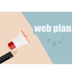 web plan Megaphone Icon Flat design vector image