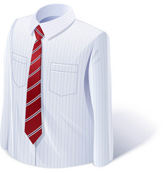 White shirt with tie vector image