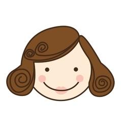Woman cartoon face icon image vector