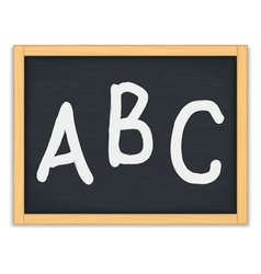 ABC Letters on Chalkboard vector image vector image
