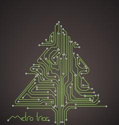 Abstract metro scheme christmas card vector image vector image