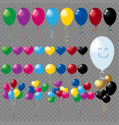 bunches and groups of colorful helium balloons iso vector image vector image