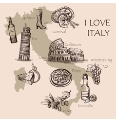 Creative map of Italy vector image