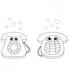 desktop phones vector image vector image