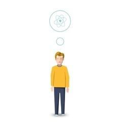 Flat character physicist with profession icon vector image