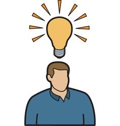 Man with idea vector image vector image
