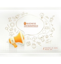 Marketing and promotion business infographics set vector image