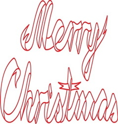 Merry christmas ribbon resize vector image vector image