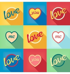 Pop-art style card symbol of love vector image vector image