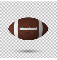 realistic flying football closeup isolated vector image vector image