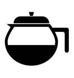 Capacity for hot drinks black icon vector