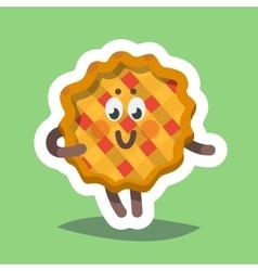 Emoticon Icon Flirty Sweet Pie vector image vector image