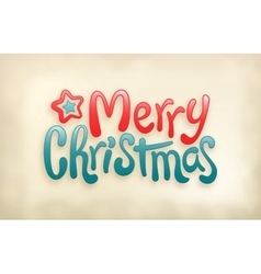 Merry Christmas lettering calligraphy stamp vector image