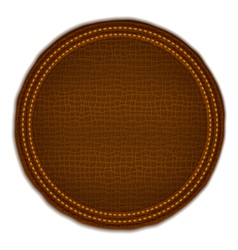 Brown Leather Label vector image vector image