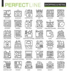 shopping outline mini concept symbols e-commerce vector image vector image
