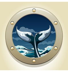 whale tail vector image vector image