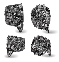 Black talk bubbles vector image