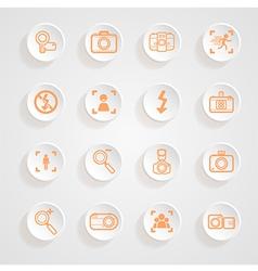 Camera icons and menu Camera icons Icons button sh vector image vector image
