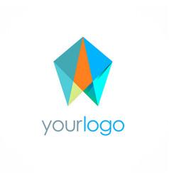 diamond stone jewelry logo vector image