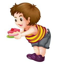 Fat kid vector image vector image