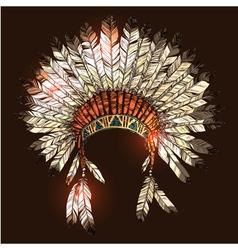 Hand Drawn Native American Indian Headdress vector image vector image