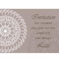 Invitation card with delicate ornaments vector