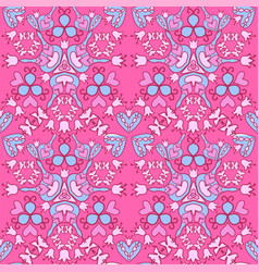 seamless floral cute background vector image vector image