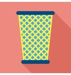 Trash Bin in Flat Style vector image vector image