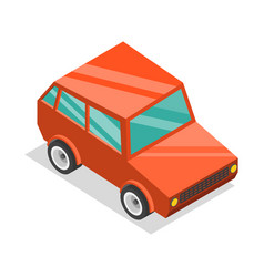 3d isometric flat concept cartoon car vector image