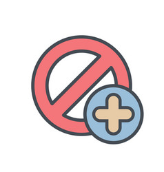 add block cancel lock stop icon vector image