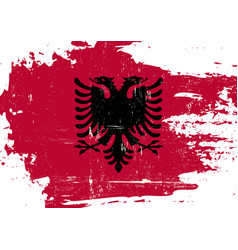 albania scratched flag vector image