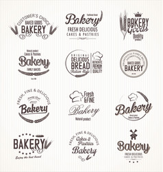 Bakery retro labels vector