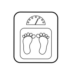 Balance bathroom isolated icon vector