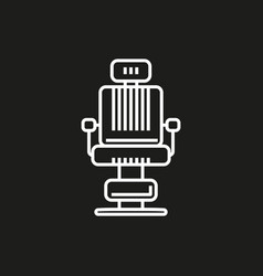 barber chair simple icon on black background vector image