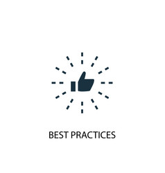 Best practices icon simple element vector