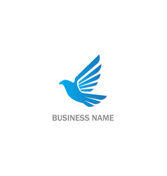 bird fly piece animal logo vector image