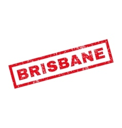 Brisbane Rubber Stamp vector image
