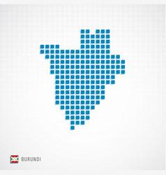 burundi map and flag icon vector image